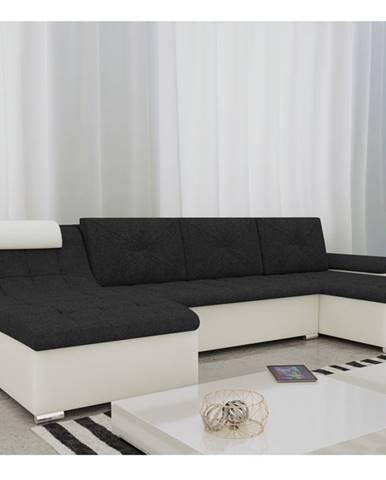 Rohová sedačka GUSTO U, černá/bílá