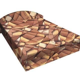 Čalouněná postel ÁJA 120x200 cm, hnědožlutá látka