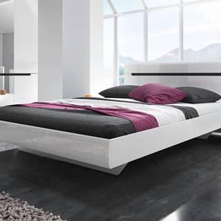 HEKTOR postel 180x200 cm TYP 32, bílá/bílý lesk
