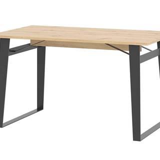 Jídelní stůl LOFT, dub artisan/černá