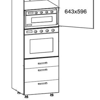 SOLE vysoká skříň DPS60/207 SAMBOX pravá, korpus wenge, dvířka dub arlington