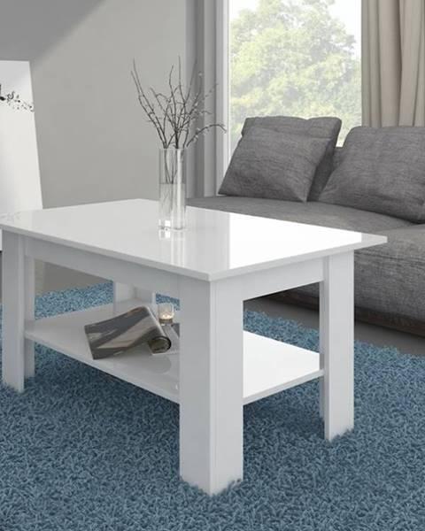 MORAVIA FLAT Konferenční stolek ELAIZA, bílá/bílý lesk