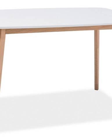 Jídelní stůl MOSSO I, dub-bílá