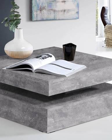 Konferenční stolek COFFEE TABLE, světle šedý beton