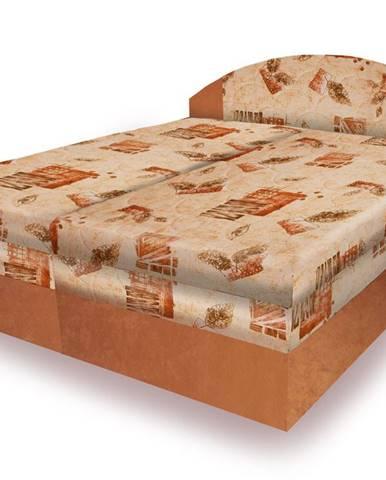 Polohovací čalouněná postel VESNA 160x200 cm, béžová látka