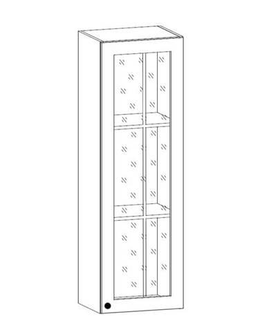PROWANSJA horní vysoká vitrína W40S pravá, borovice andersen