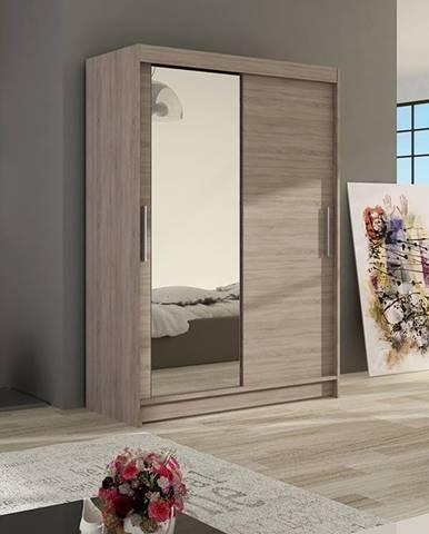 Šatní skříň MIAMII VI, trufla/zrcadlo