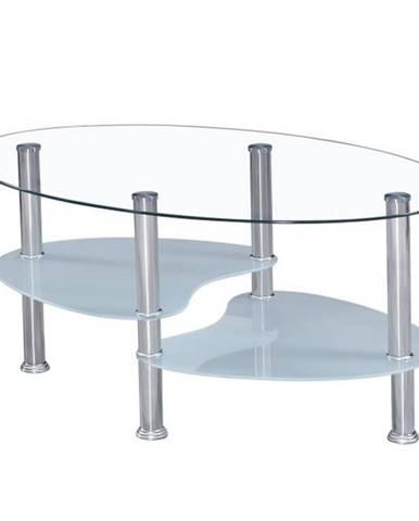 WAVE NEW konferenční stolek, ocel/sklo