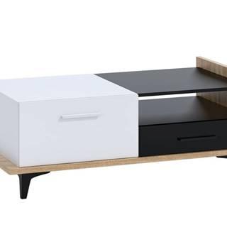 Box 03 – Konferenční stolek 2D2S, dub sonoma/bílá/černá
