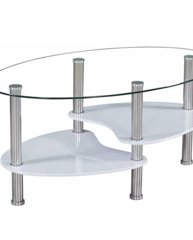 AXEL NEW konferenční stolek, ocel/sklo