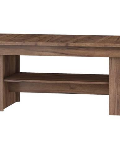 Konferenční stolek MAXIMUS 16, craft tobaco/craft zlatý