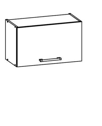 MODENA, skříňka nad digestoř G60o, rijeka světlá