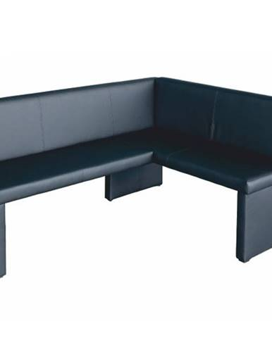 MODERN rohová lavice, pravá, černá ekokůže