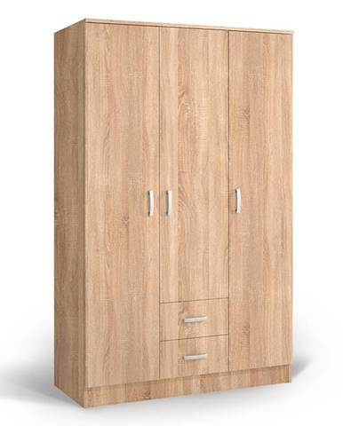 Šatní skříň IVA 3K2F, dub bardolino