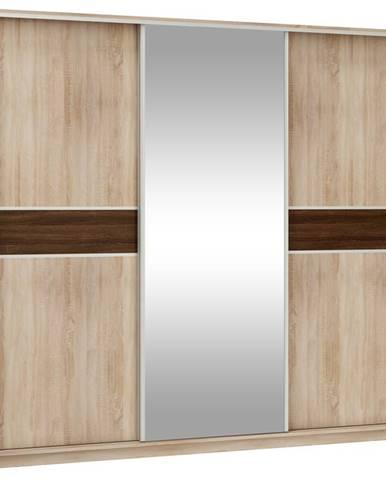 Šatní skříň PUERTO L 240C se zrcadlem, barva: