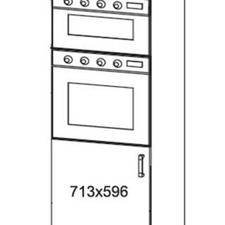 HAMPER vysoká skříň DPS60/207O, korpus bílá alpská, dvířka dub lancelot