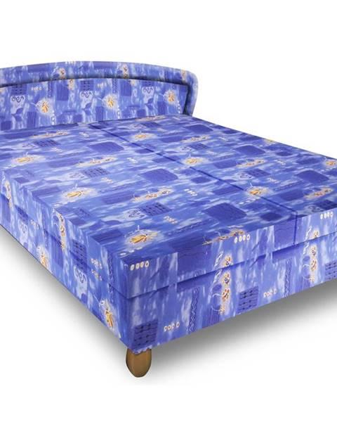 Smartshop Čalouněná postel PAVLA 180x200 cm, modrá látka