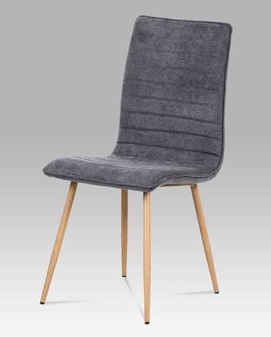 Jídelní židle HC-368 GREY2, šedá látka/kov dub