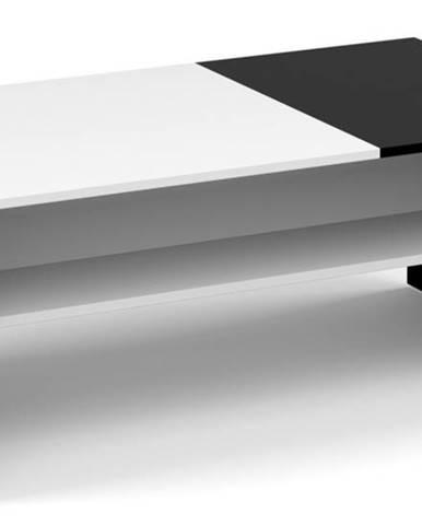 Konferenční stolek MONACO, černá/bílá