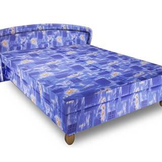 Čalouněná postel PAVLA 180x200 cm, modrá látka