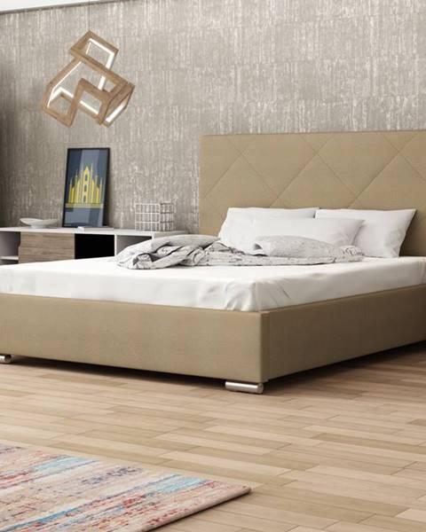 Smartshop Čalouněná postel SOFIE 5 180x200 cm, béžová látka