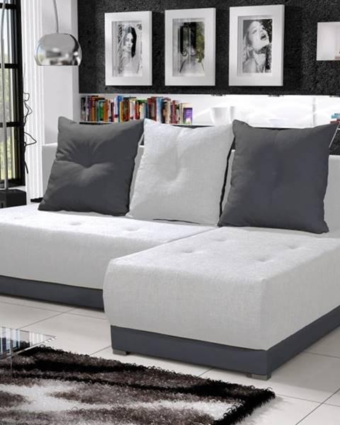 Smartshop Rohová sedačka INSIGNIA 10, krémová/šedá