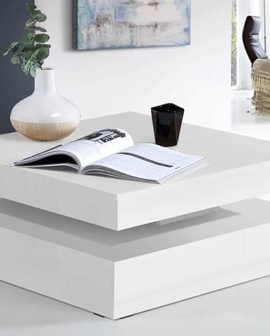 Konferenční stolek COFFEE TABLE, bílý lesk