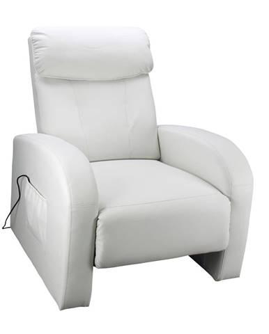 Relaxační masážní křeslo Toledo, krémově bílá