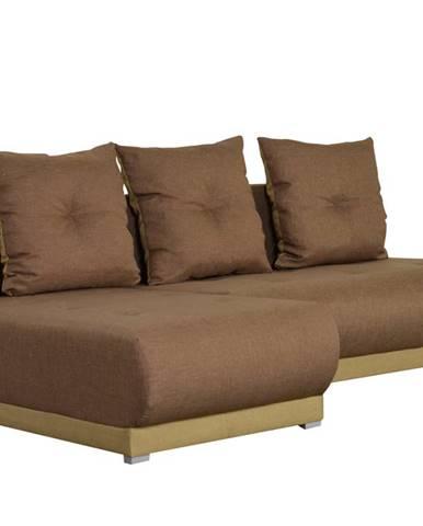 Rohová sedačka INSIGNIA 21, hnědá/béžovohnědá