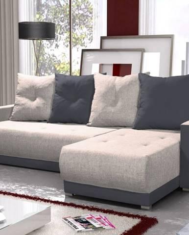 Rohová sedačka INSIGNIA BIS 10, krémová/šedá