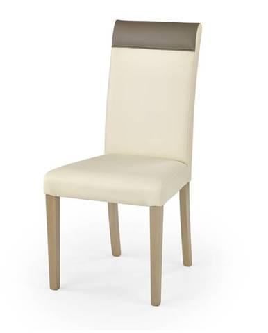 Jídelní židle NORBERT, dub sonoma/krémová