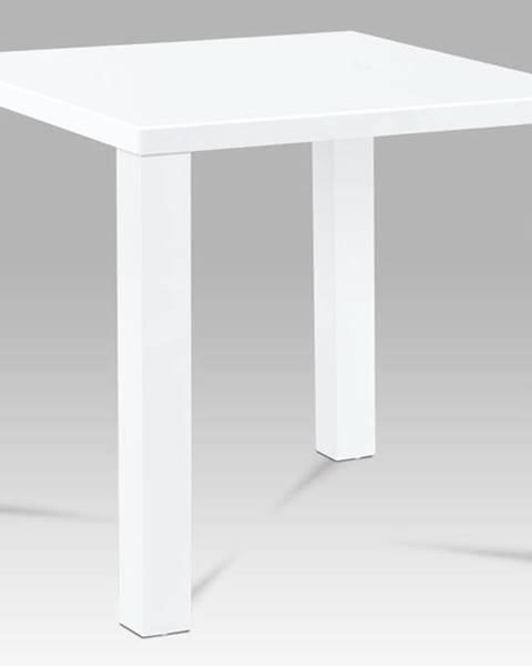 Smartshop Jídelní stůl AT-3005 WT 80x80 cm, vysoký lesk bílý