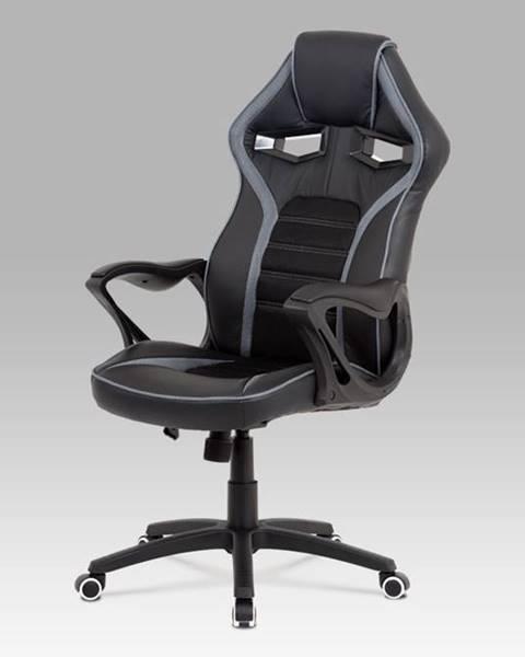 Smartshop Kancelářská židle KA-G406 GREY, černá látka/šedá látka
