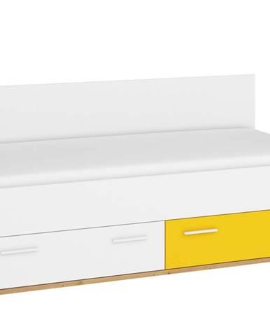 Hey – postel 205, dub artisan/bílá/žlutá