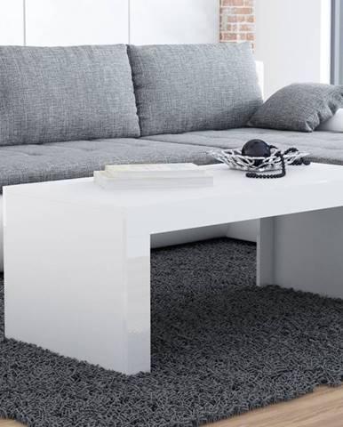 Konferenční stolek TESS, bílý mat/bílý lesk
