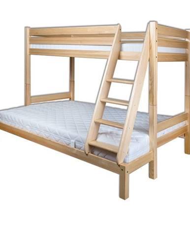 Patrová postel LK155, 90x200 + 140x200, masiv borovice
