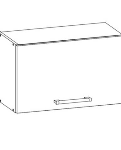 RIO horní skříňka nad digestoř G60o, korpus bílý mat, dvířka bílý lesk