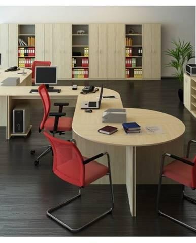 TEMPO AS, kancelářská sestava 3, dub sonoma