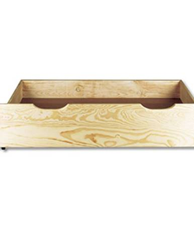 Úložný prostor pod postel LK151, 150x22x69 cm, masiv borovice