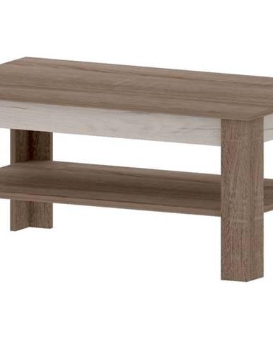 VN 4 - VENECIA B, konferenční stolek, dub sonoma truflový/dub craft bílý