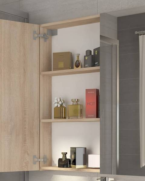 MORAVIA FLAT Koupelnová skříňka DELLA 80 cm, dub sonoma