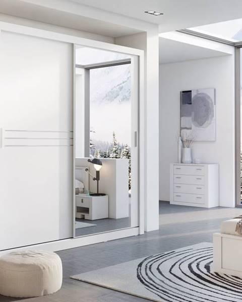 Smartshop Šatní skříň IDEA 12 203 zrcadlo, bílá