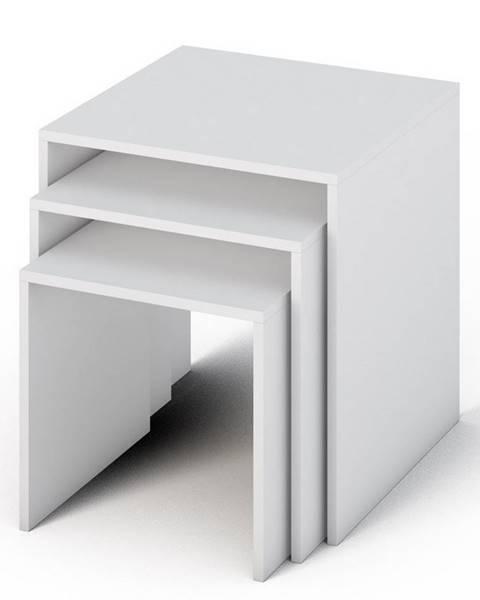Smartshop SIMPLE konferenční stolek 3v1, bílá