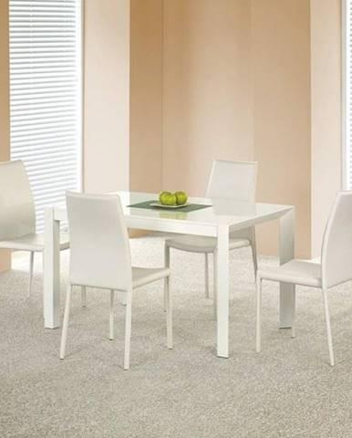 Jídelní stůl rozkládací STANFORD, bílý lesk