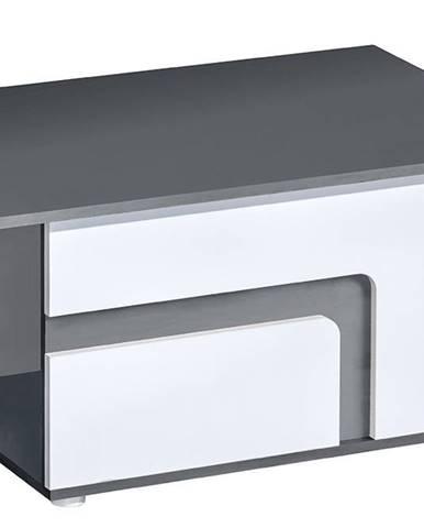 Konferenční stolek APETTITA 18, antracit/bílá