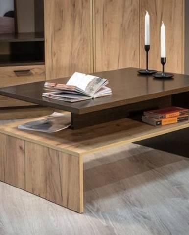Konferenční stolek LAIT wenge/dub kraft zlatý