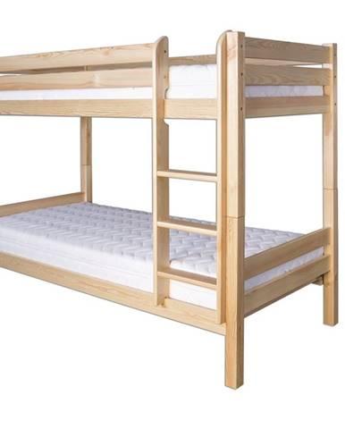 Patrová postel LK136, 90x200 + 90x200, masiv borovice