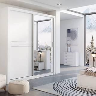 Šatní skříň IDEA 12 203 zrcadlo, bílá