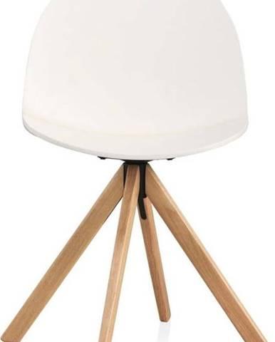 Bílá otočná jídelní židle Geese Ebby