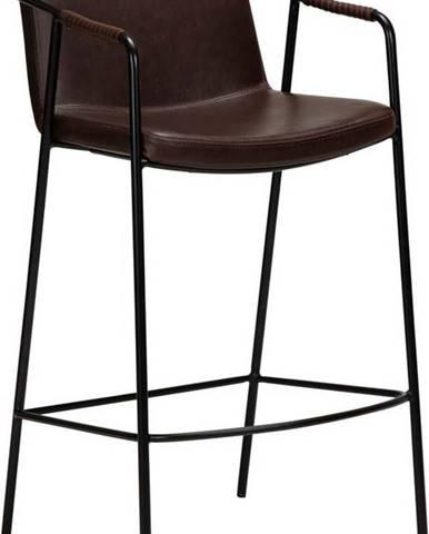 Tmavě hnědá barová židle z imitace kůže DAN-FORM Denmark Boto, výška 105 cm
